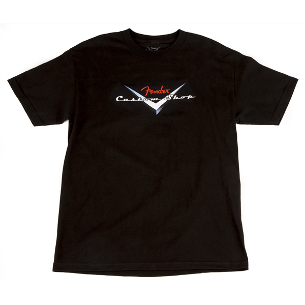 Fender Custom Shop Original Logo T-Shirt, Black