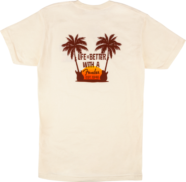 Fender Twin Palms T-Shirt, Tan