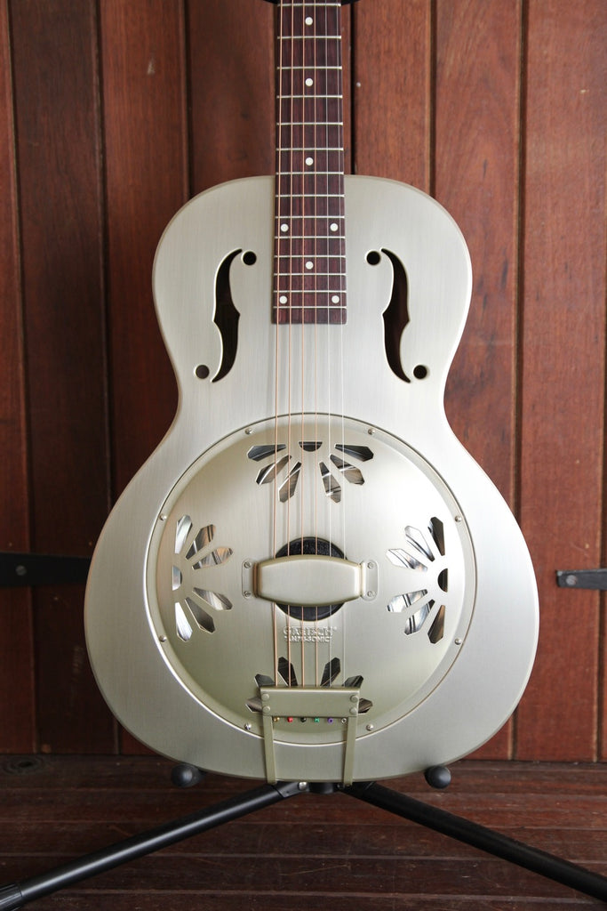 Gretsch G9201 Honeydipper Metal Round Neck Resonator Nickel Plated Brass Body