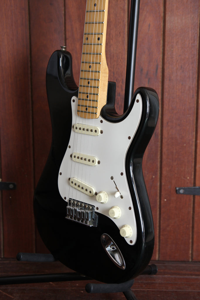 Samick S-Style Black Electric Guitar 1994 Made in Korea Pre-Owned