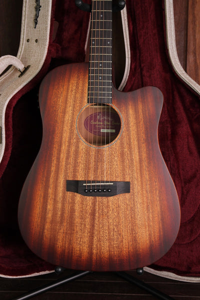 Martinez Southern Star Series Mahogany Acoustic-Electric Dreadnought Cutaway Guitar