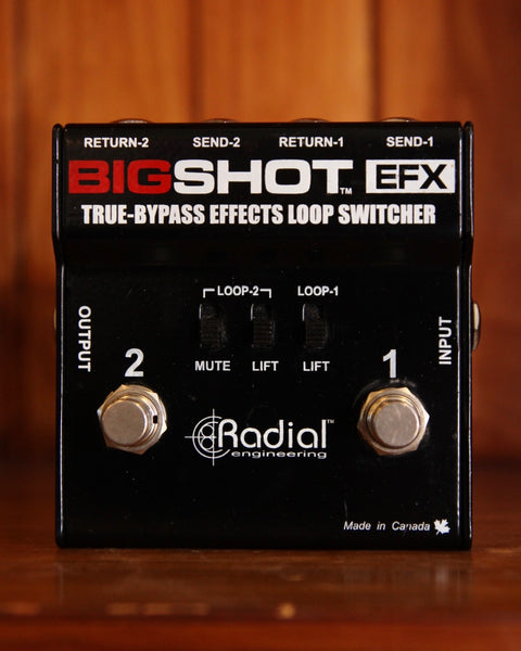 Radial Engineering Bigshot EFX True Bypass Effects Loop Switcher Pre-Owned