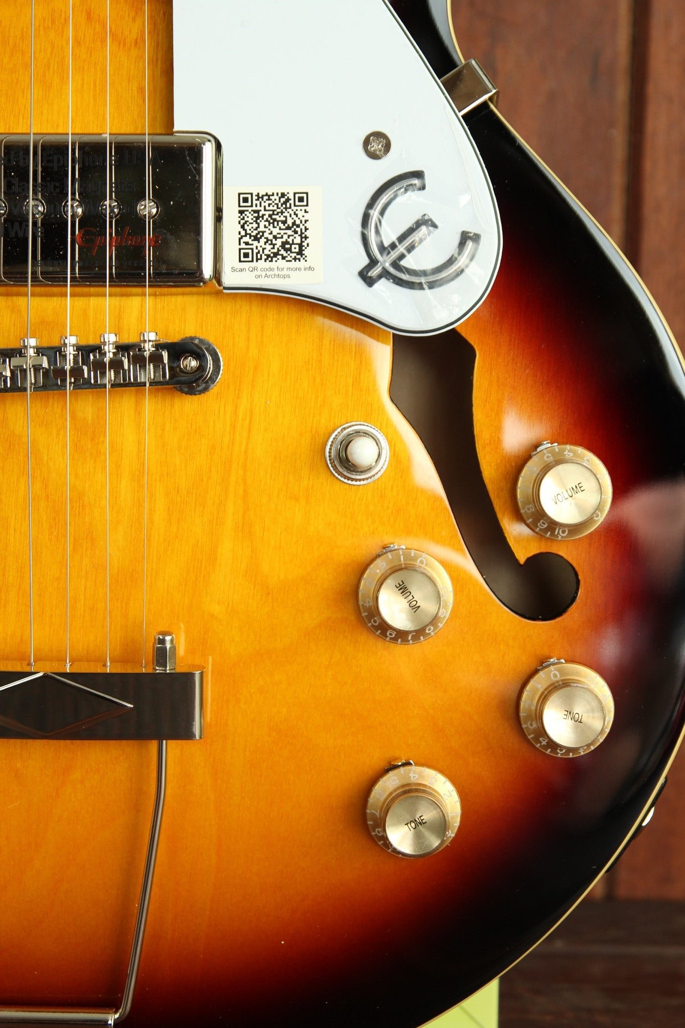 Epiphone Casino Coupe Hollowbody Electric Guitar Vintage Sunburst - The Rock Inn - 6