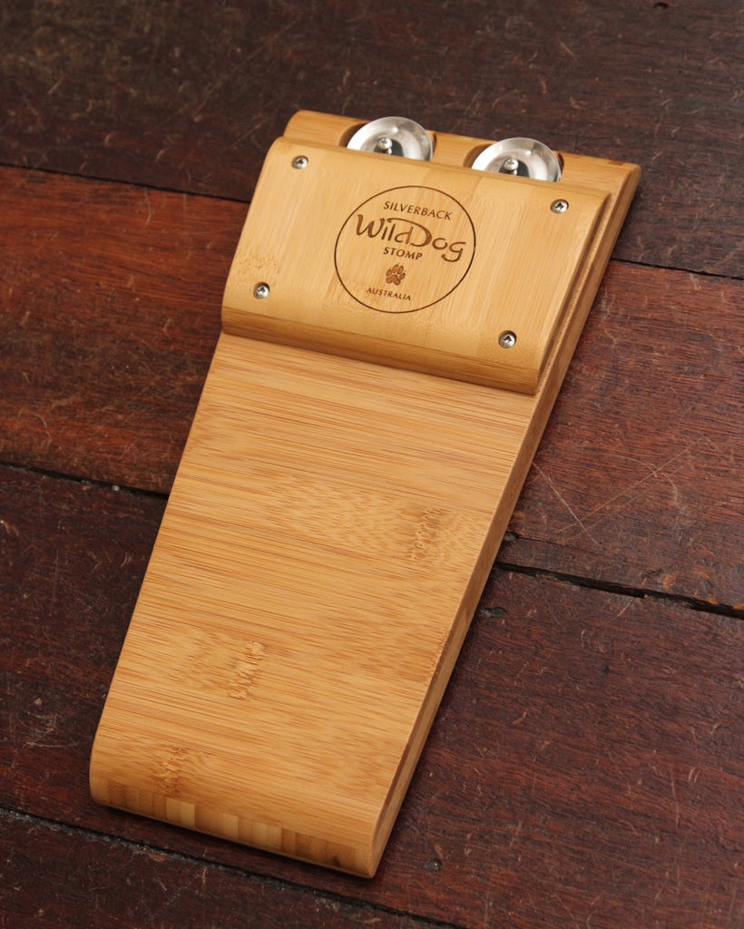 Wild Dog Silverback All Solid Bamboo Stompbox w/Jingles (new version)