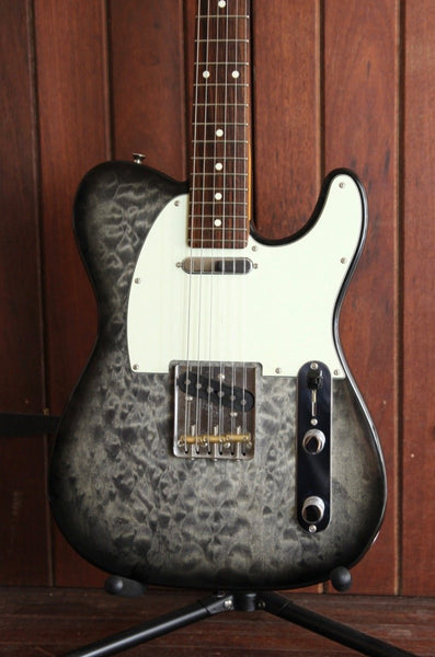 Fender Japan Hybrid Quilt FSR 60's Telecaster Trans Black Pre-Owned