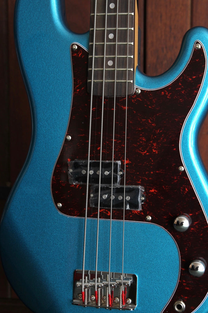 SX PB Bass 3/4 Size Solidbody Electric Bass Guitar Blue