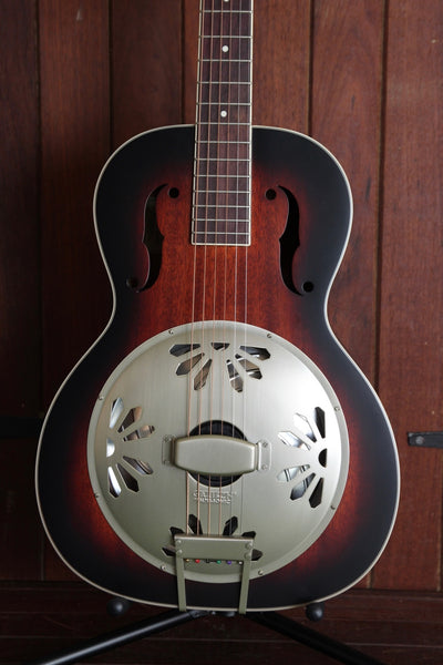 Gretsch G9241 Alligator Biscuit Round Neck Electric Resonator 2-Color Sunburst