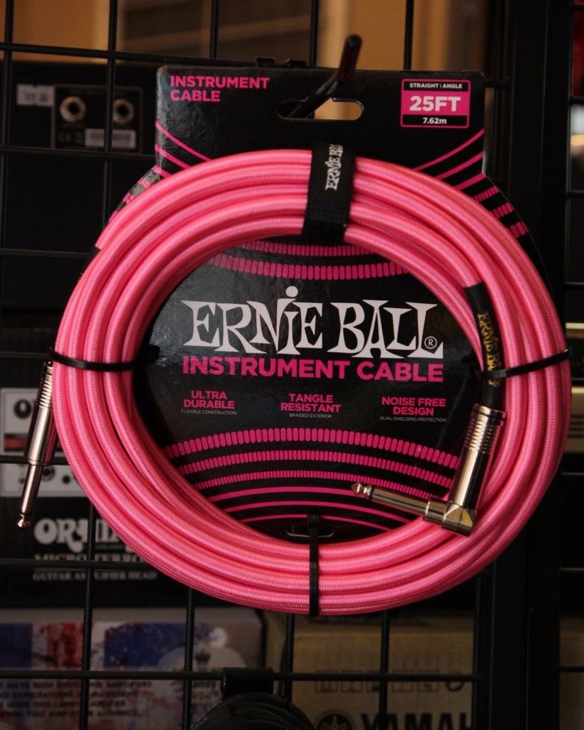Ernie Ball 25' Heavy Duty Braided Guitar Cable