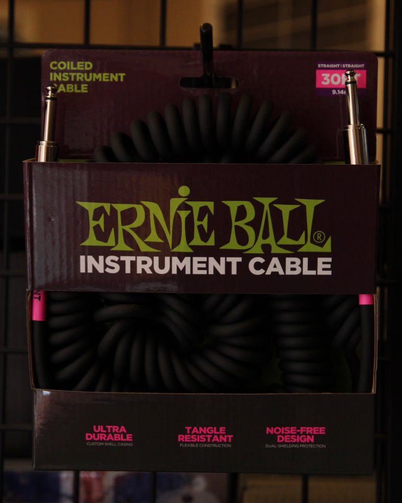 Ernie Ball 30' Coiled Vintage Style Guitar Cable