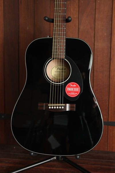 Fender CD-60S Solid Top Dreadnought Spruce Black