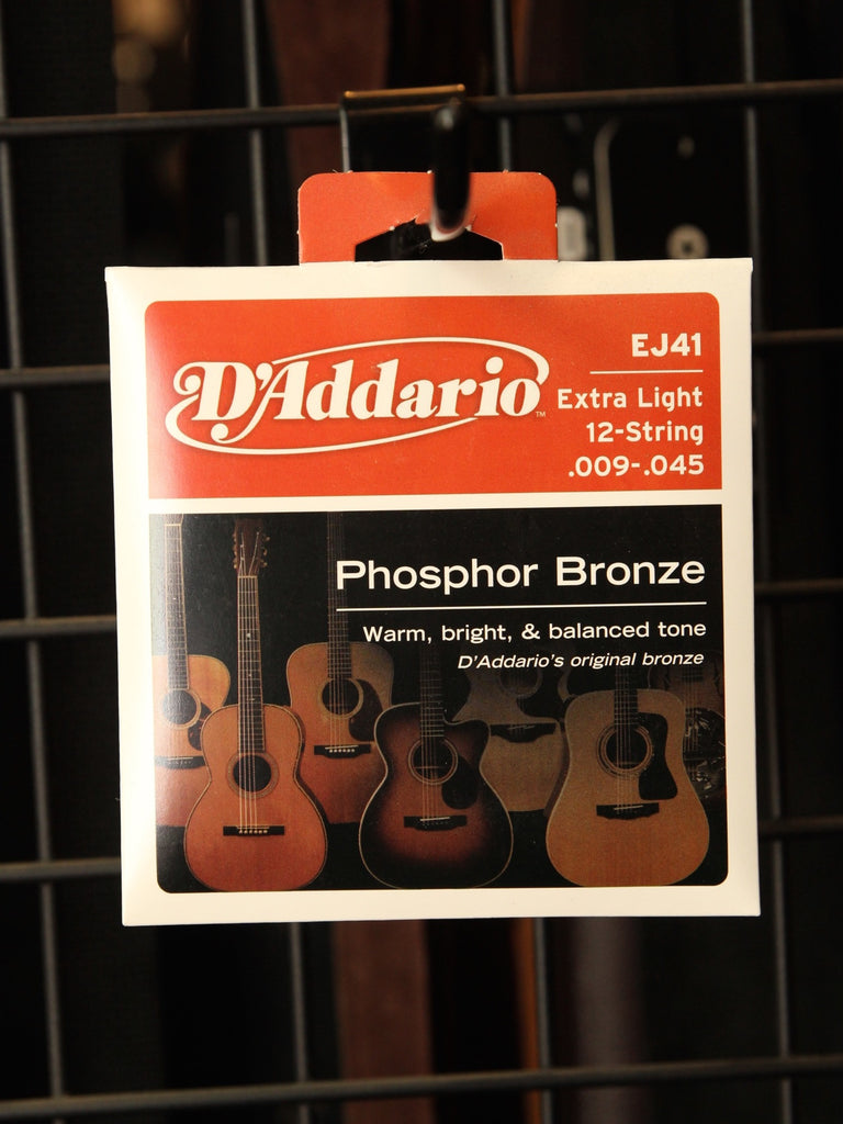 D'Addario Phosphor Bronze Acoustic 12-String Set Strings - The Rock Inn