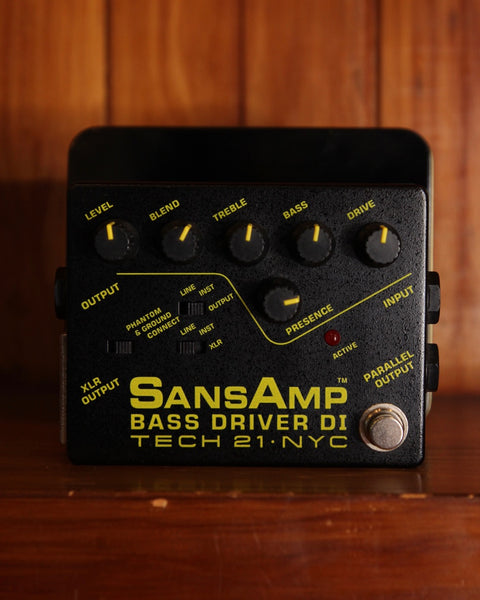 Tech 21 SansAmp Bass Driver DI Effects Pedal Pre-Owned