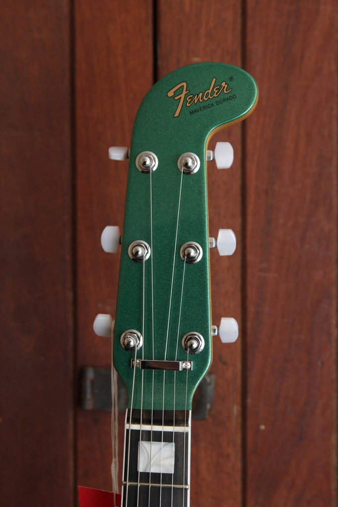 Fender Parallel Universe Maverick Dorado Electric Guitar Mystic Pine Green