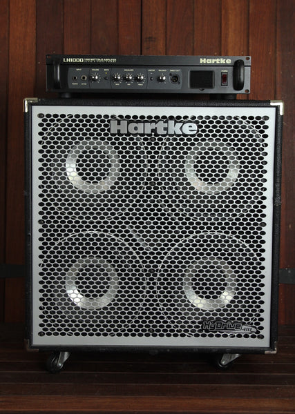 Hartke LH1000 Bass Head & Hydrive 4x10 Bass Speaker Cabinet Pre-Owned