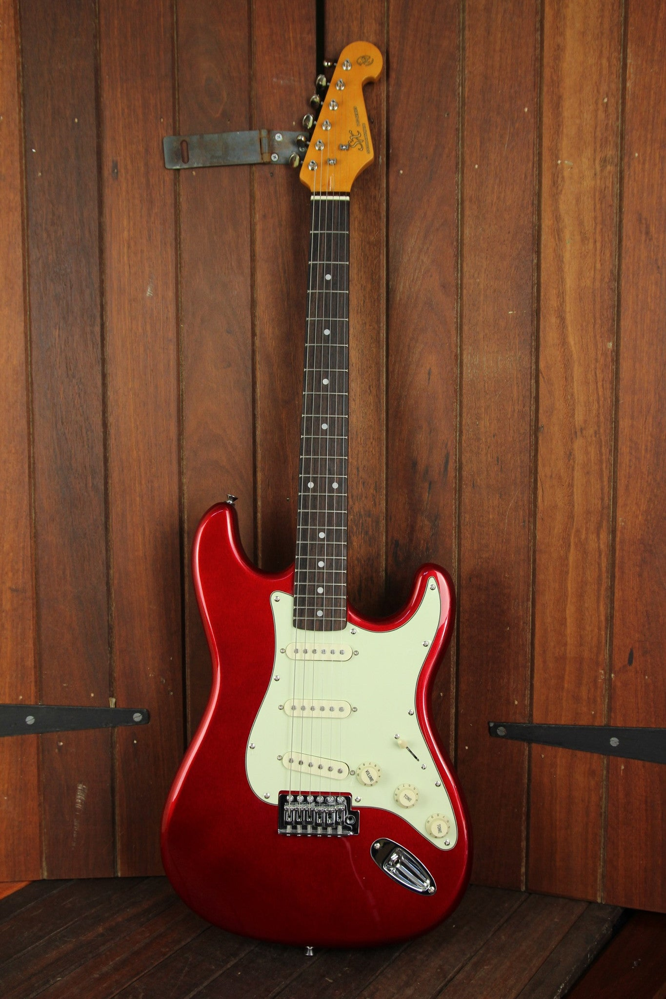 SX Vintage Style Electric Guitar Candy Apple Red - The Rock Inn - 2