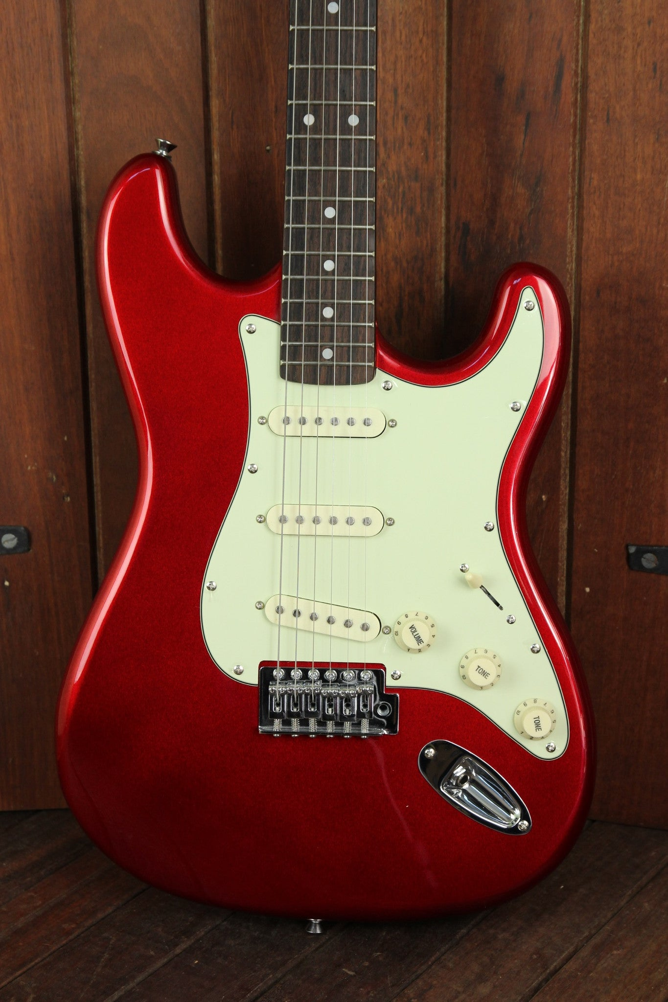 SX Vintage Style Electric Guitar Candy Apple Red - The Rock Inn - 1
