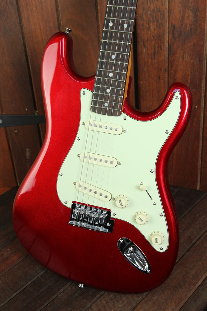 SX Vintage Style Electric Guitar Candy Apple Red - The Rock Inn - 5