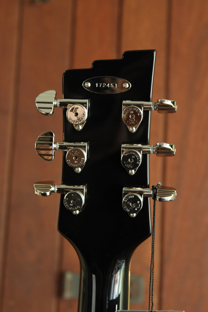 Duesenberg Double Cat Black Semi-Hollow Electric Guitar