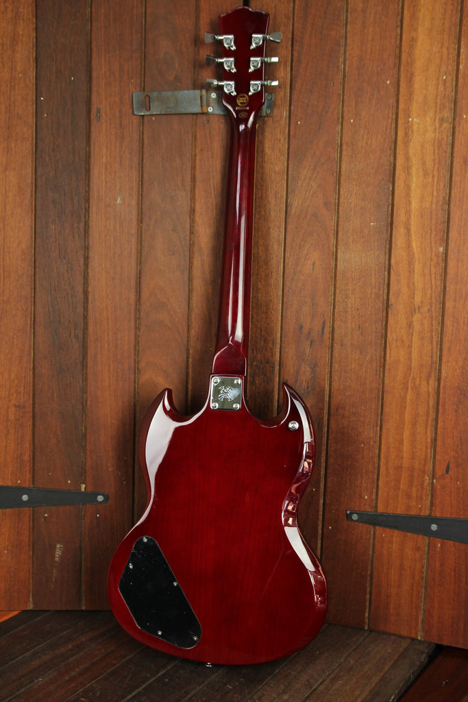 SX Vintage SG Style Electric Guitar Wine Red - The Rock Inn - 4
