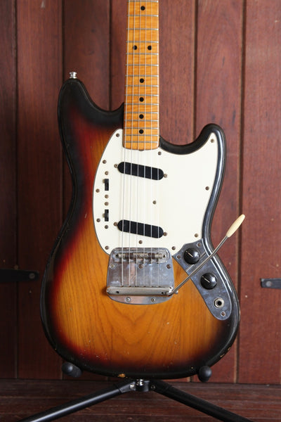 Fender Mustang USA Vintage 1977 Sunburst Electric Guitar Pre-Owned