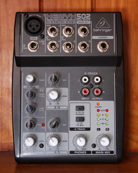 Behringer Xenyx 502 Mixer/Preamp/EQ Pre-Owned