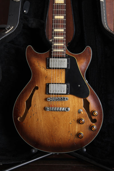 Ibanez AMV10A TCL Artcore Vintage Hollow Body Distressed Tobacco Burst Pre-Owned