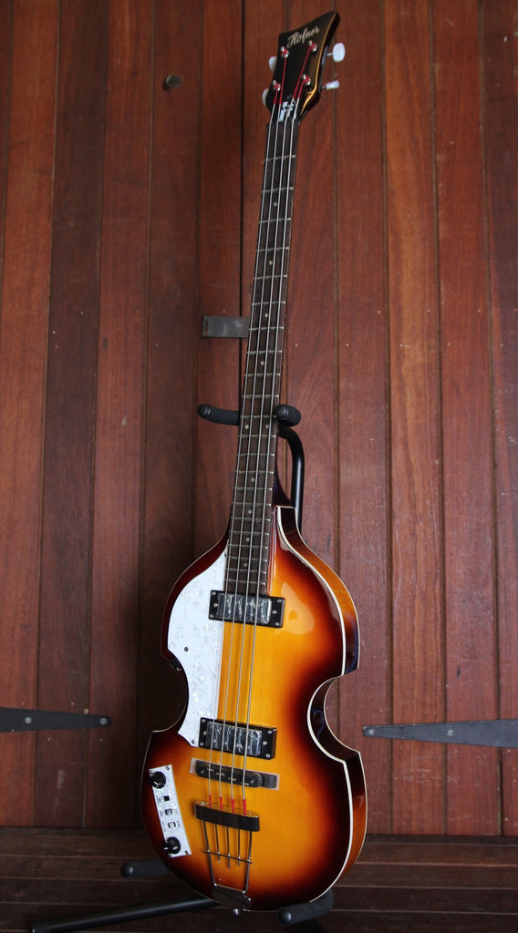 Hofner Ignition Series Violin Bass Left Handed Sunburst with Hardcase