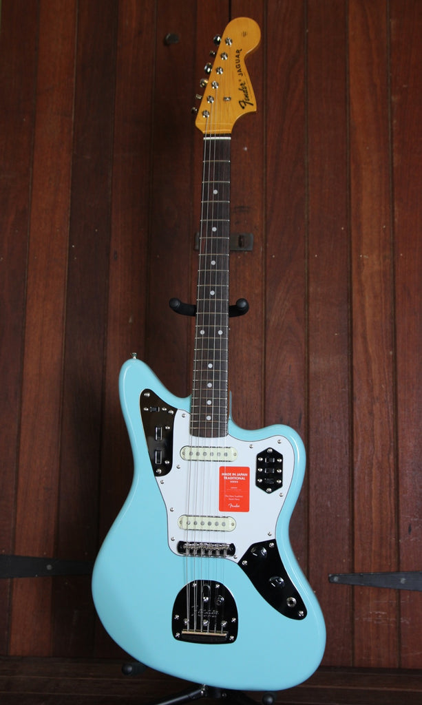 Fender Traditional 60's Jaguar Guitar Made in Japan Daphne Blue