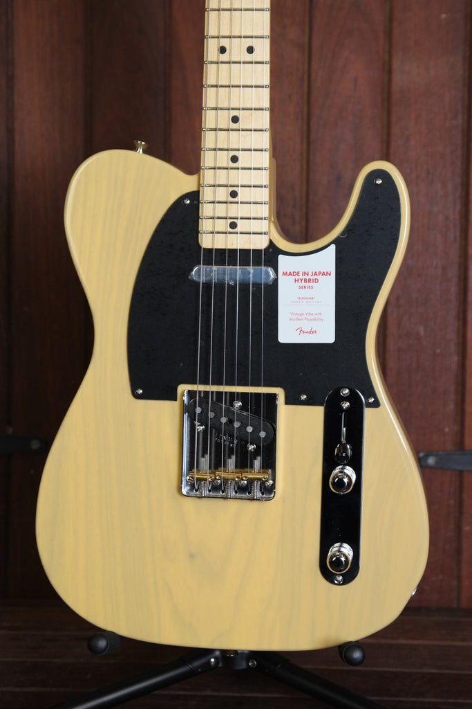 Fender Hybrid 50's Telecaster Guitar Made in Japan Off White Blonde