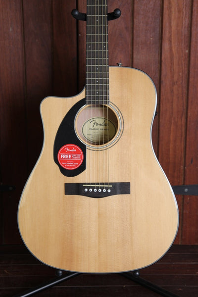 Fender CD-60SCE Solid Top Dreadnought Acoustic-Electric Guitar Left Handed
