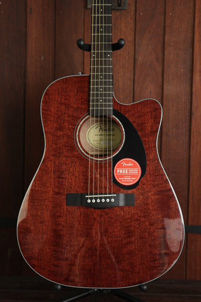 Fender CD-60SCE Solid Top Mahogany Dreadnought Acoustic-Electric Guitar