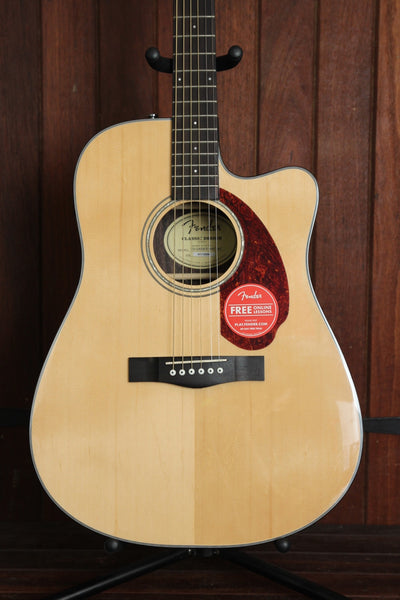 Fender CD-140SCE Cutaway Dreadnought Acoustic-Electric Guitar + Case