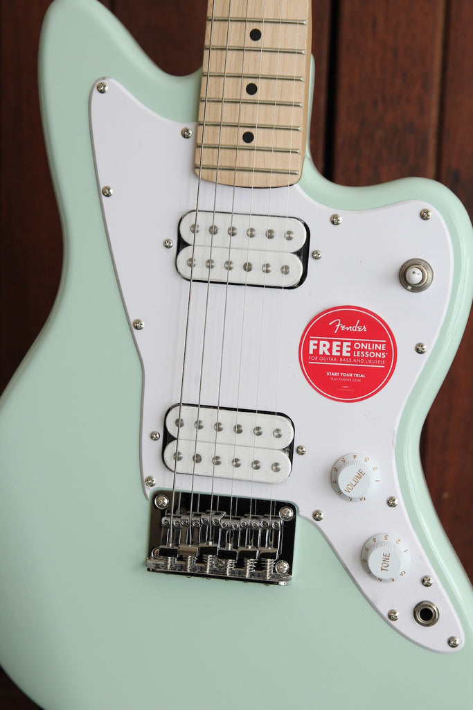 Squier Mini Jazzmaster HH Sea Foam Green Electric Guitar