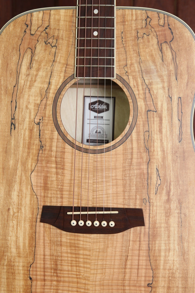 Ashton D26EQ-SPM Dreadnought Spalted Maple Guitar
