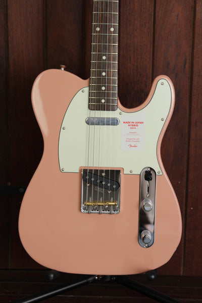 Fender Hybrid 60's Telecaster Guitar Made in Japan Flamingo Pink