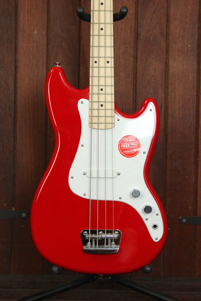 Squier Affinity Series Bronco Short Scale Bass Torino Red