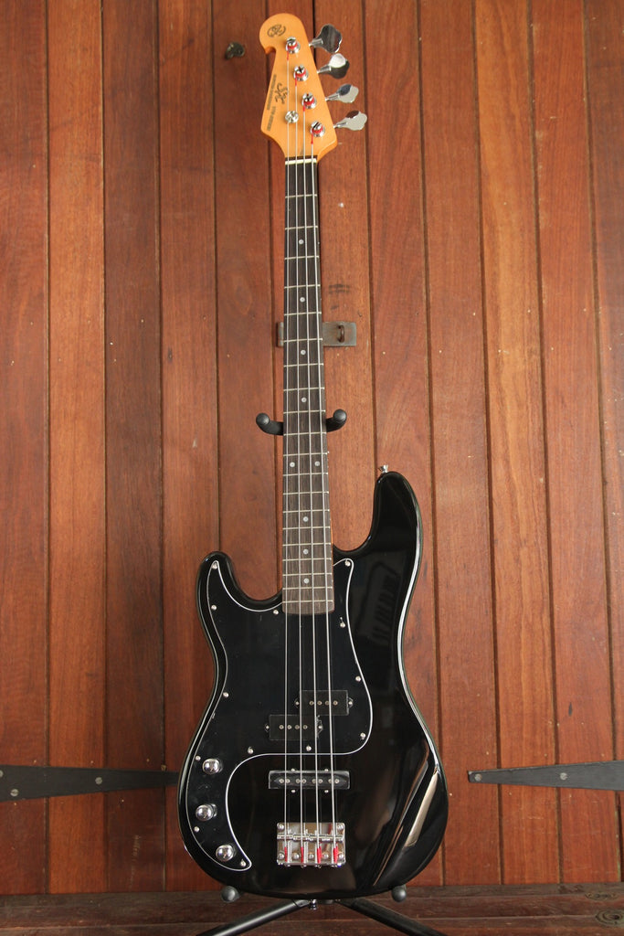 SX PB Bass Solidbody Electric Bass Guitar Black Left Handed