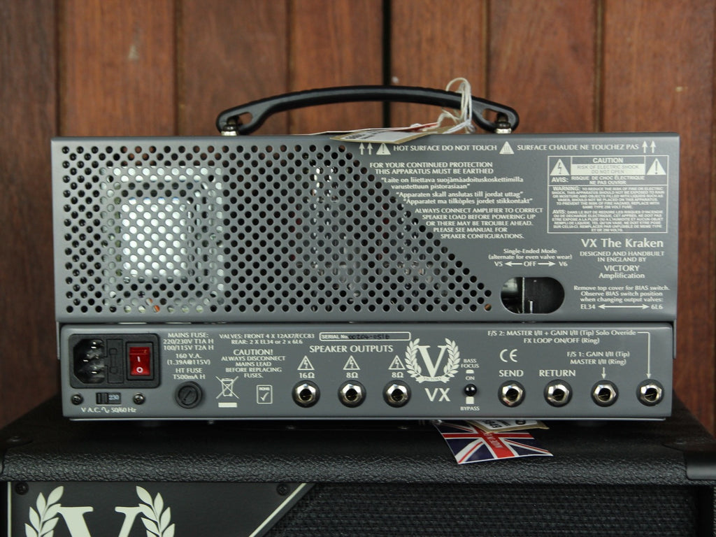 Victory Amplification VX The Kraken 50w Head 6L6 - The Rock Inn - 3