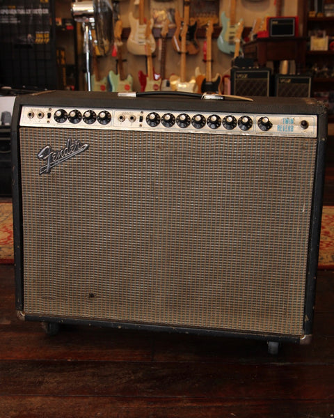 Fender Twin Reverb Vintage 1974 Silverface Combo Master Volume