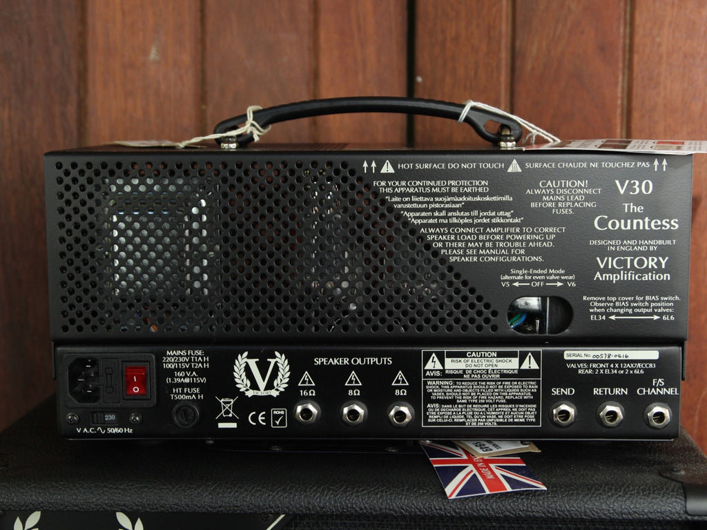 Victory Amplification V30H The Countess Valve Head 6L6 - The Rock Inn - 3