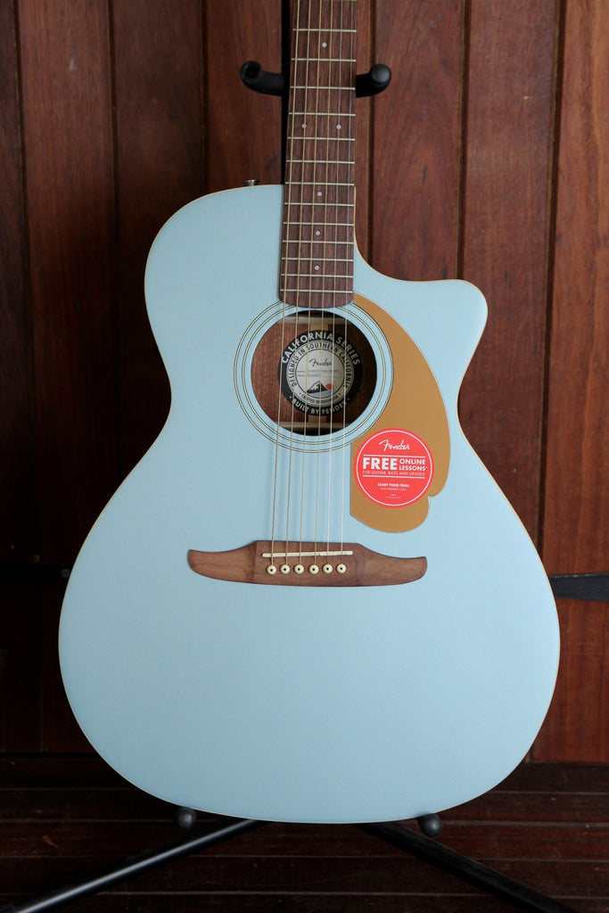 Fender California Player Newporter Ice Blue Satin Acoustic-Electric Guitar