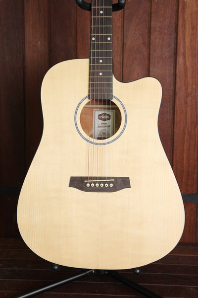 Ashton D20SEQ Dreadnought Cutaway Acoustic Guitar +  Hardcase Deal