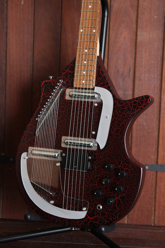 Danelectro Coral Sitar Electric Red Crackle