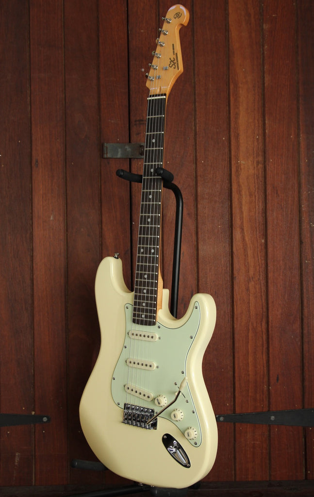 SX Vintage Style Electric Guitar Aged White