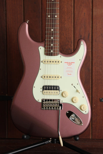 Fender Hybrid 60's Stratocaster HSS Made in Japan Burgundy Mist
