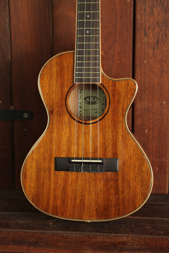 Kala Hawaiian Koa Gloss Tenor Cutaway Ukulele with EQ KA-KTGE-C