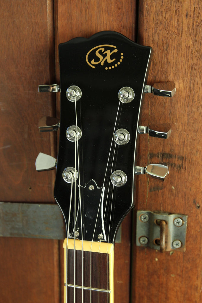 SX Vintage SG Style Electric Guitar Black - The Rock Inn - 5