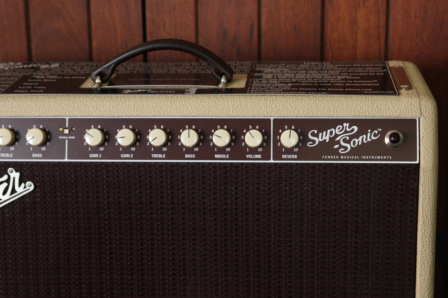 Fender Super-Sonic 22 22W 1x12 Valve Guitar Combo Amplifier - The Rock Inn