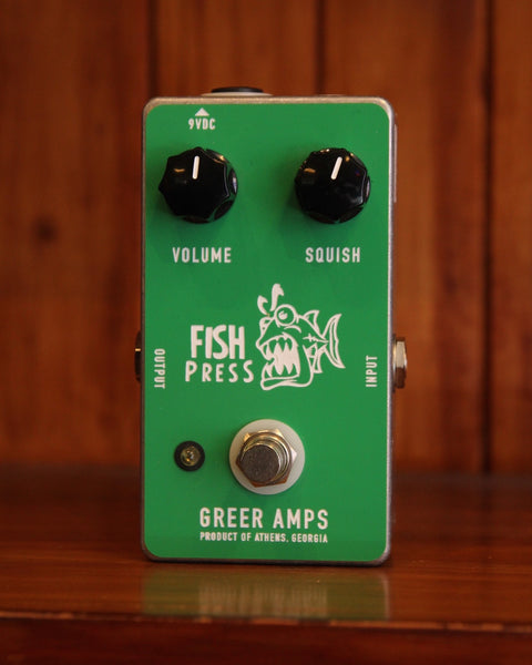 *NEW ARRIVAL* Greer Amplification Fish Press Compressor Pedal Pre-Owned - The Rock Inn