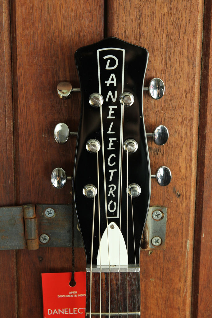 Danelectro '59 Double Cutaway Solidbody Electric Guitar Black - The Rock Inn - 5